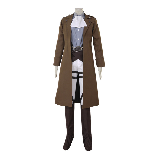 Attack on Titan Shingeki no Kyojin Levi Ackerman Survey Corps Cosplay Costume Long Coat Custom Made