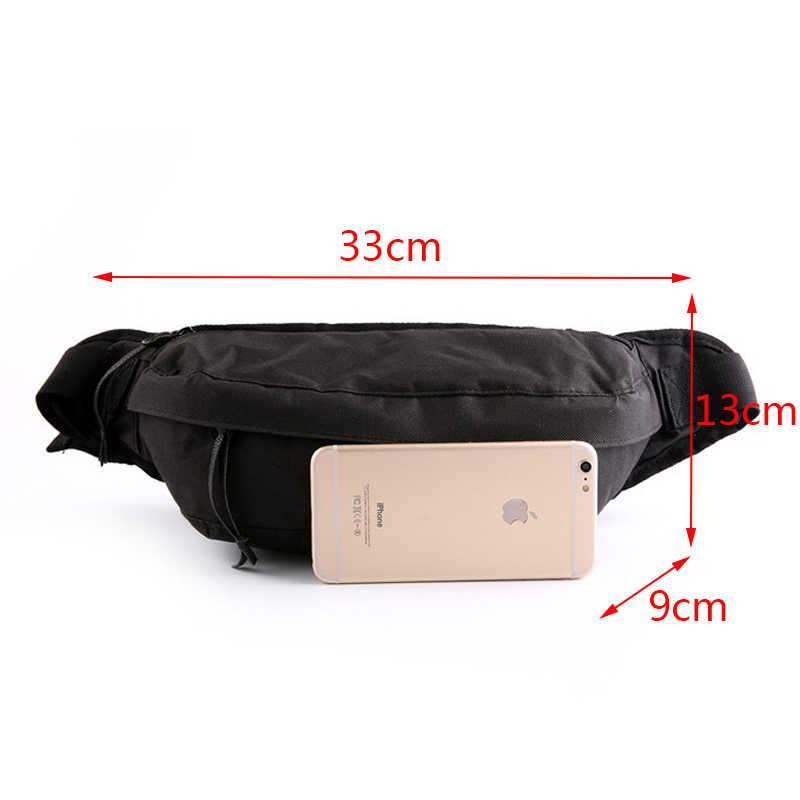 Waist Pack For Men Nylon Casual Men's Waist Bags Large Capacity Chest Bag Male Handy Banana Fanny Pack Leisure Travel Pocket Hot