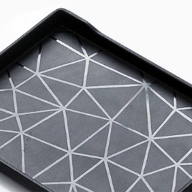 Plastik Persegi Panjang Melayani Nampan untuk Teh/Kopi/Air Piala Piring Penyimpanan Tray Snack Kering Buah Dessert Piring untuk home/Restaura