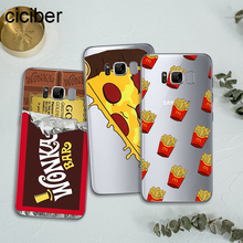 ciciber Cartoon Fries Donuts Pizza Food For Cases Samsung Galaxy S7 Edge S8 S9 Plus J5 J7 2016 Note 8 Cover Soft TPU Phone Case