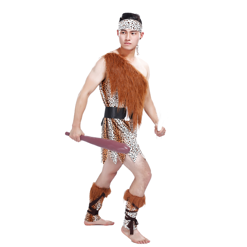 aliexpresscom buy free shipping halloween costume cosplay costume adult male indian leopard african primitive savage cosplay costume from reliable - Free Halloween Costume