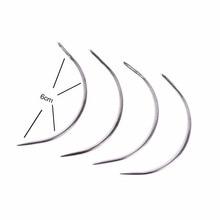 50 шт. 6 см C Форма изогнутые иглы нити швейные/ткацкие иглы для человеческих волос Уток Ткачество