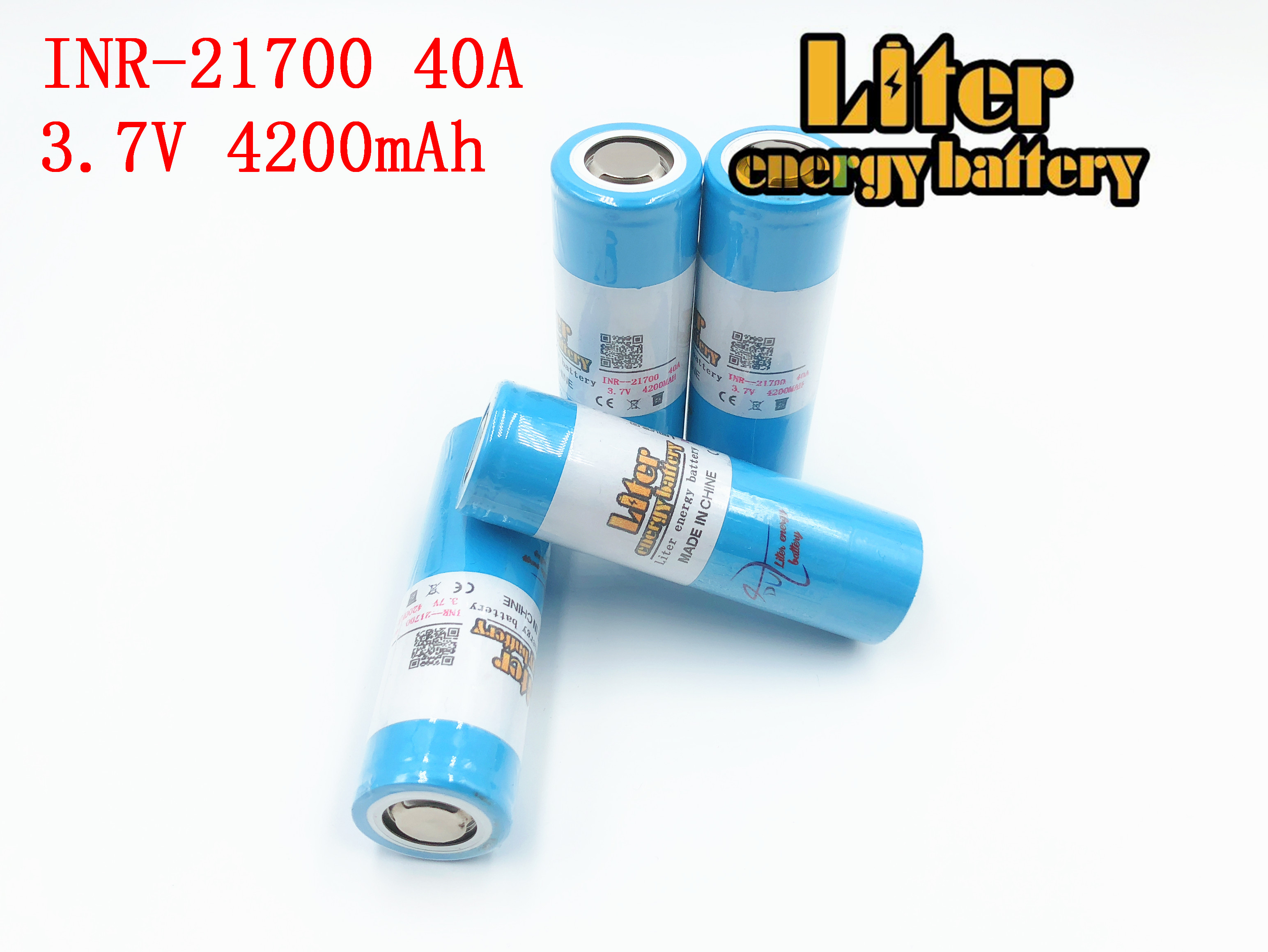 40A <font><b>3.7V</b></font> 21700 <font><b>4200mAh</b></font> 14.8W Li-ion Rechargeable <font><b>Battery</b></font> with for Electric Tool Headlamp Bicycle image