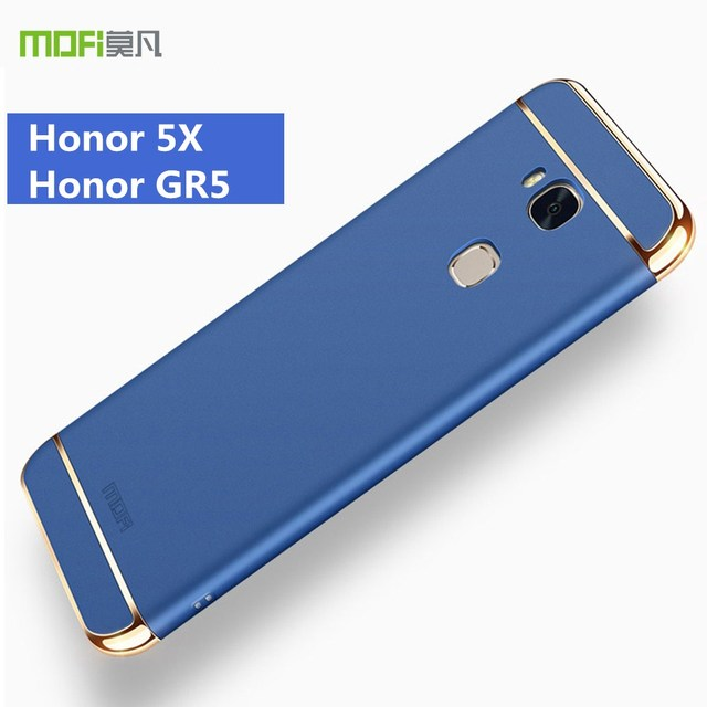 reputable site f33e8 46af8 US $8.59 20% OFF|For Huawei gr5 case cover huawei honor 5X case MOFi  original huawei honor gr5 back case luxury gold accesspries 3 in 1 5.5