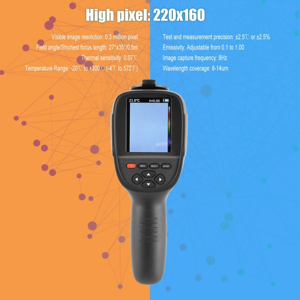 Portable Handheld HD Thermal Imaging Camera Infrared Imaging Sensor Visible Light Camera Built-in Chargeable Battery reiner salzer infrared and raman spectroscopic imaging