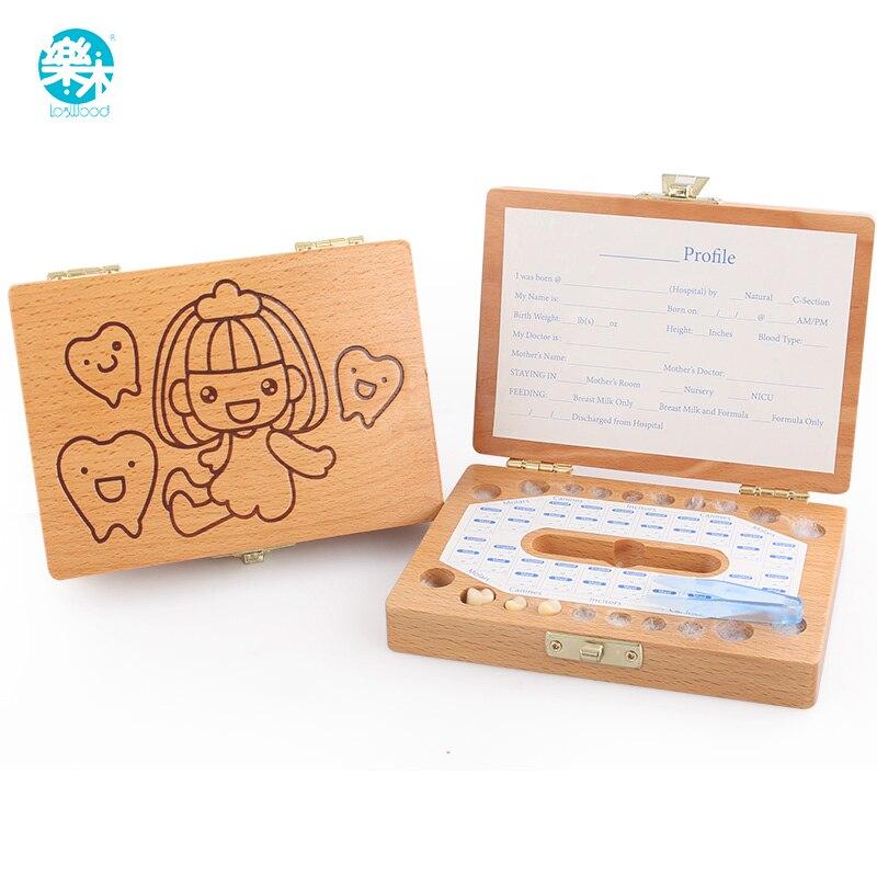 Teeth Box Organizer Baby Keep Milk Teeth Wooden Storage Box Great Gifts 3-6 YEARS Creative For Kids Children Girls Girts