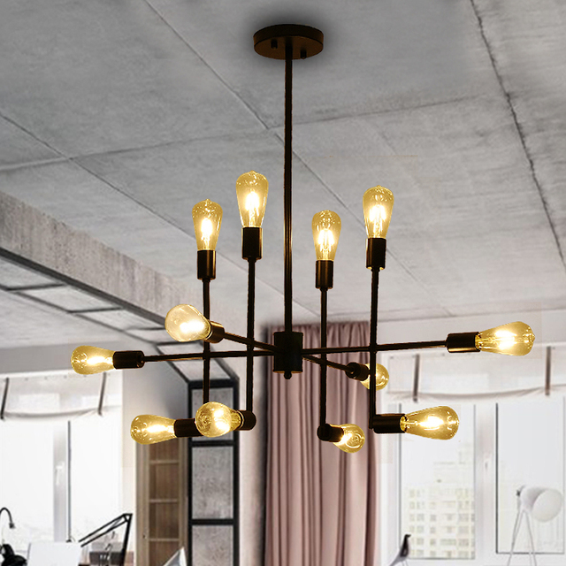 industrial pendant lights loft retro lamp lampara vintage lamp e27 copper light for living room bar - Pendant Light In Living Room