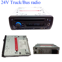 Free shipping 24V one din car dvd player with USB SD hard disck and microphone function