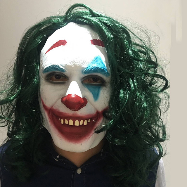 Movie Joker 2019 Cosplay Masker Batman The Dark Knight Clown Masker met Haar Pruik Halloween Latex Masker