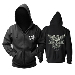Image 3 - Bloodhoof Korn Nu Metal  heavy metal Mens black hoodie Asian Size