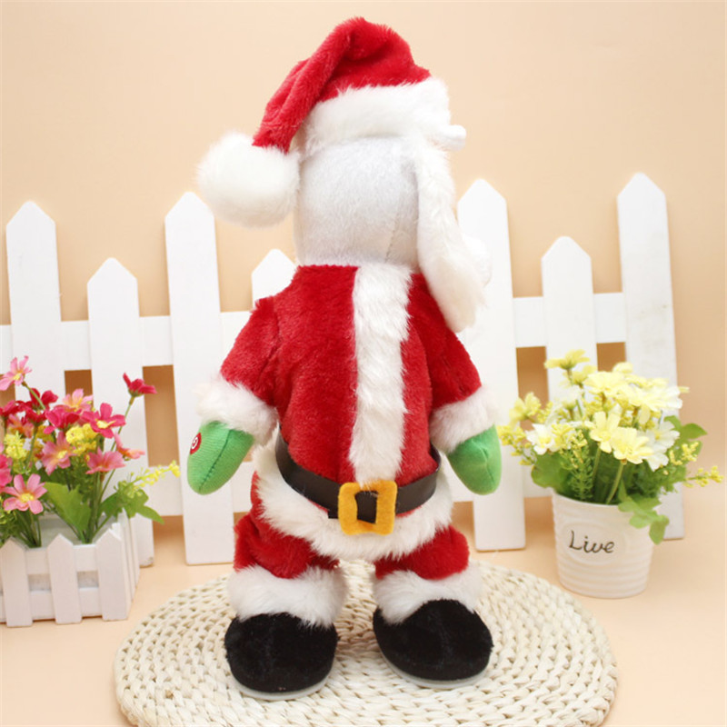 14inch noel toy musical electric twerk dancing santa claus christmas decorations for home tree ornament new year gift for kids in pendant drop ornaments