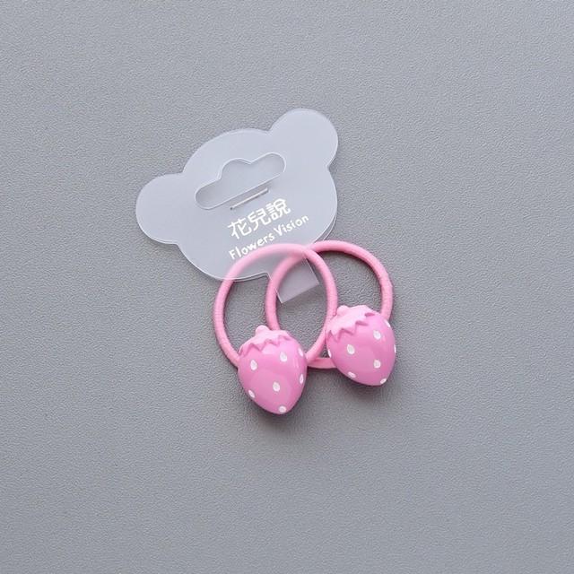 2 PCS Cartoon Fruit Flower Princess Headwear Baby Headdress Children Hair Ropes