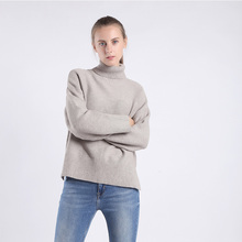 New style Casual fashion sweater coat Womans Loose Long sleeves High collar Keep warm Suitable for various stature