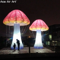 Free standing giant plant model led inflatable mushroom,party decoration with full prints For Austrilia