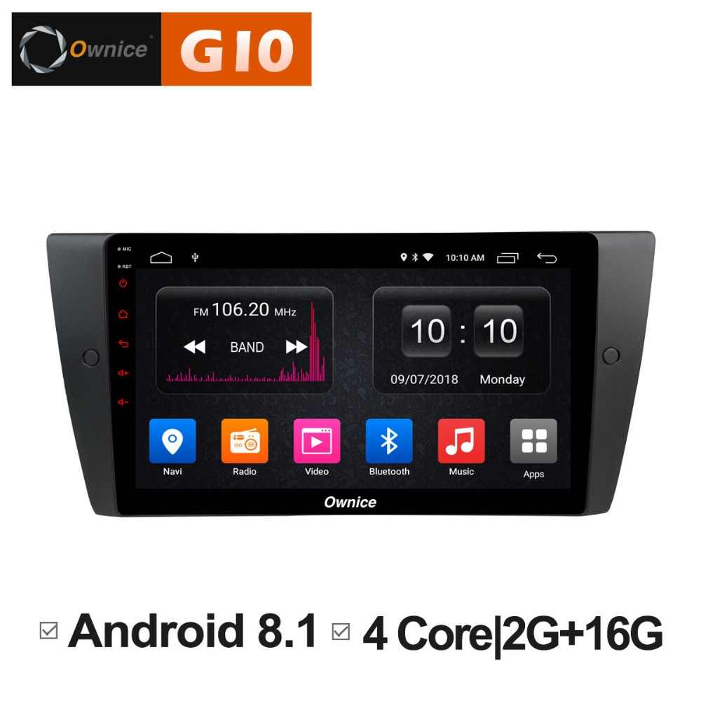 HD 9 pulgadas Quad Core 2 GB RAM 16 GB ROM Android 8,1 reproductor de DVD del coche para BMW E90 E91 e92 E93 Serie 3 WIFI Radio GPS Navi Stereo