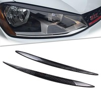 For VW Golf 7 Mk7 100 Real Carbon Fiber Headlight Eyebrow Eyelid Pair 2013 2015 1011019