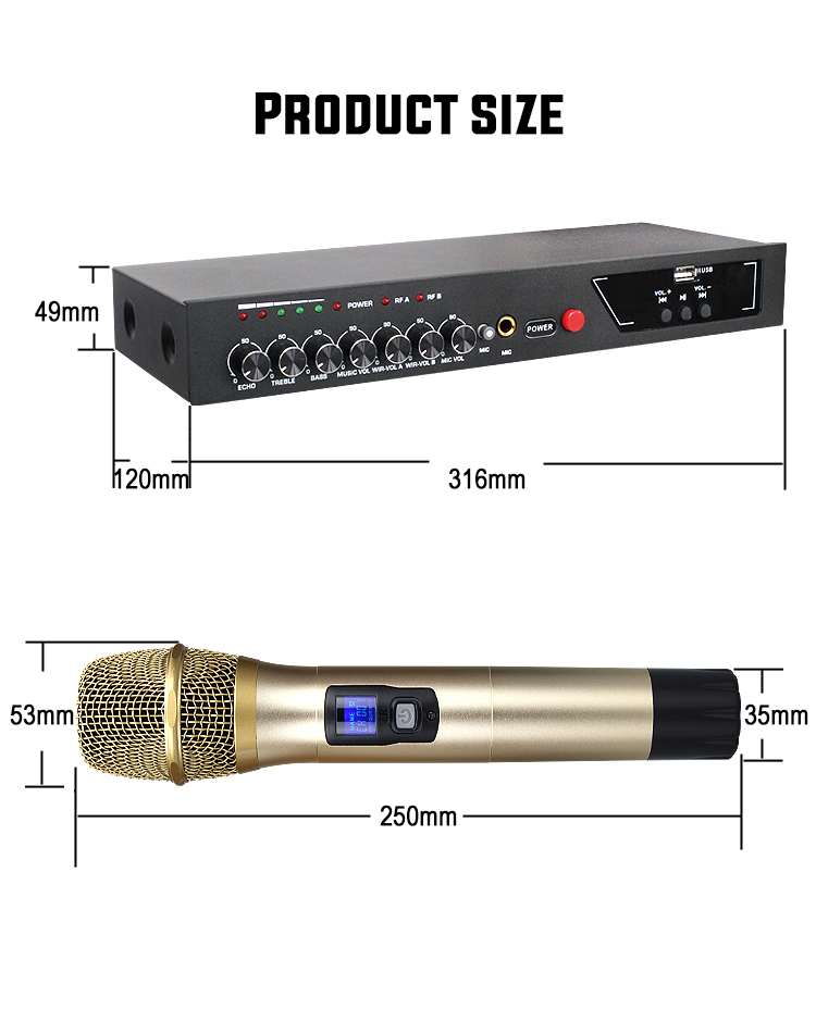 Image 4 - MU 6S Karaoke Microphone Bluetooth Microphone For Computer Studio Microphone Wireless Microphone Lectures Handheld Microphone-in Microphones from Consumer Electronics
