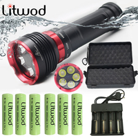 Z20 Cree XML L2 5Led profession diving Flashlight Light torch Waterproof Torch 3modes Super bright Swimming lamp under water 80m