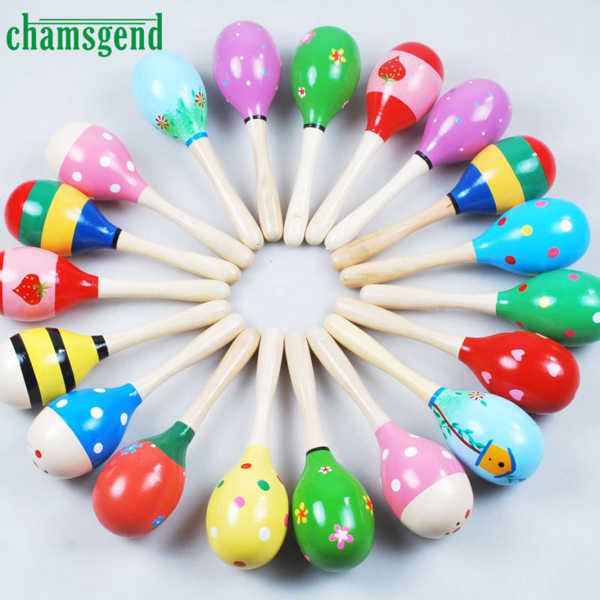 2017 High Quality Mini Wooden Ball Children Toys Percussion Musical Instruments Sand Hammer Levert Dropship