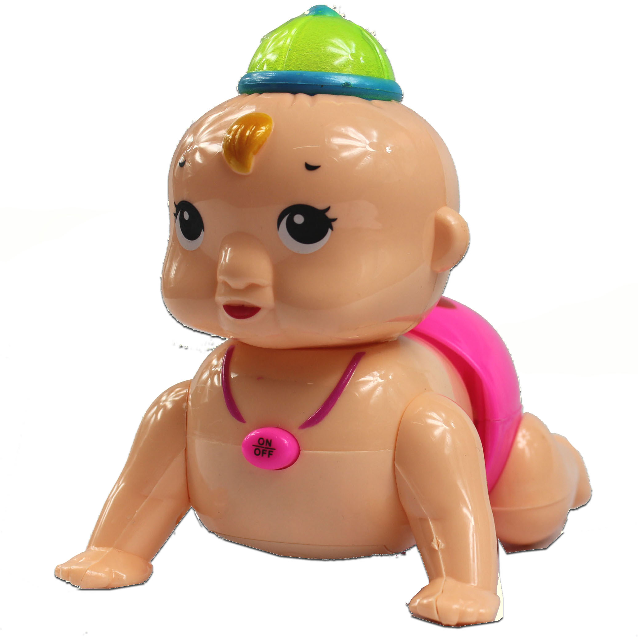 wholesale free shipping Crawling Baby Doll Toy Laugh Music Light