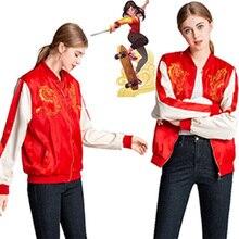 HOT! Wreck It Ralph 2 Mulan Jacket Cartoon Breaks The Internet Mushu Dragon Cosplay Coat Women Daily Costume Hoodies
