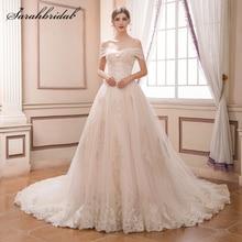 sarahbridal 2019 Longo Vestido De Noiva Dresses V-Neck