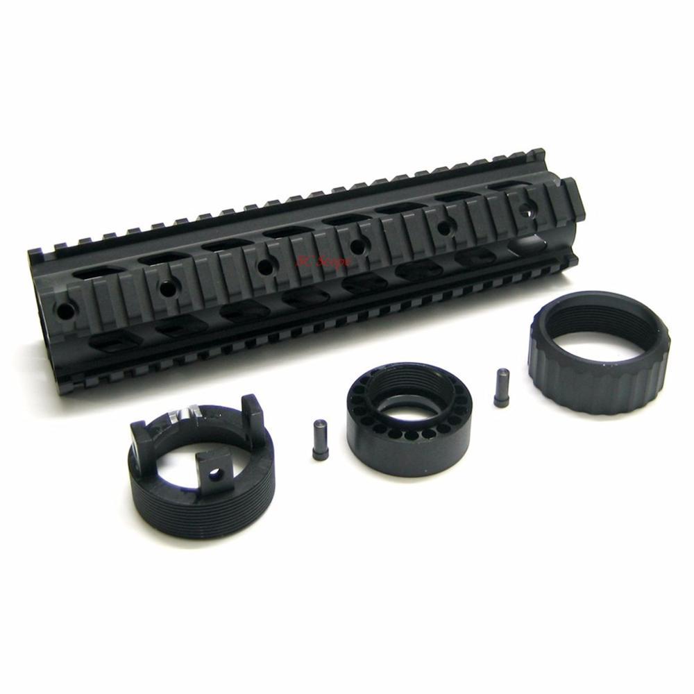 Vecteur optique RAS mains libres flotteur 10 pouces Picatinny Quad Picatinny système de montage sur Rail ajustement moyen M. 223 Rem 5.56