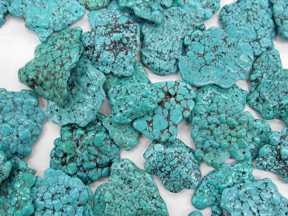 high quality 30-50mm 6pcs turquoise beads freeform teardrop flat slab pendant jewelry beadhigh quality 30-50mm 6pcs turquoise beads freeform teardrop flat slab pendant jewelry bead