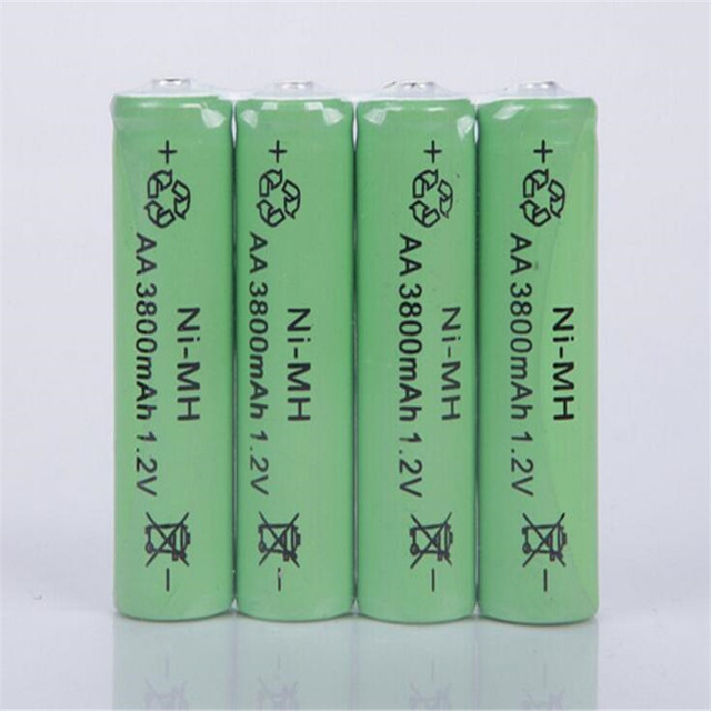 10PCS 1.2V AA Rechargeable 3800mAh 2A Neutral Battery Rechargeable  battery  aa  batteries Free shipping