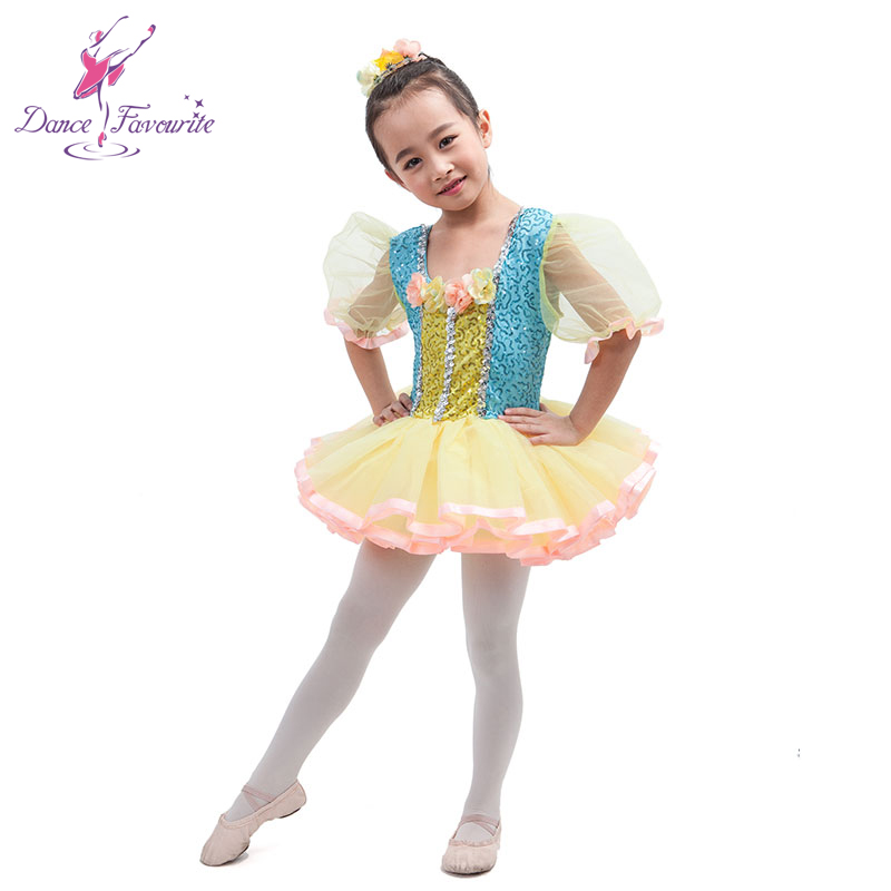 Nice design short sleeve stage performance ballet tutu girl dance costume tutu ballerina dance costume tutu