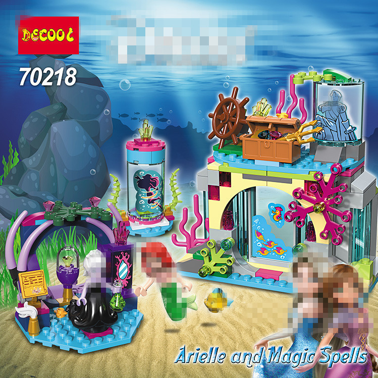 DECOOL Friends Ariel and the Magical Spell Building Blocks Classic For Girl Kids Model Toys For Children Marvel Compatible Legoe bela city police crook pursuit building blocks classic for girl boy kids model toys marvel compatible legoe