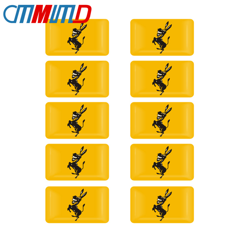 10 шт. Стайлинг автомобиля 3D эпоксидная наклейка с логотипом осла эмблема креативная забавная наклейка на автомобиль для Ferrari Ford Mustang автомобильные аксессуары
