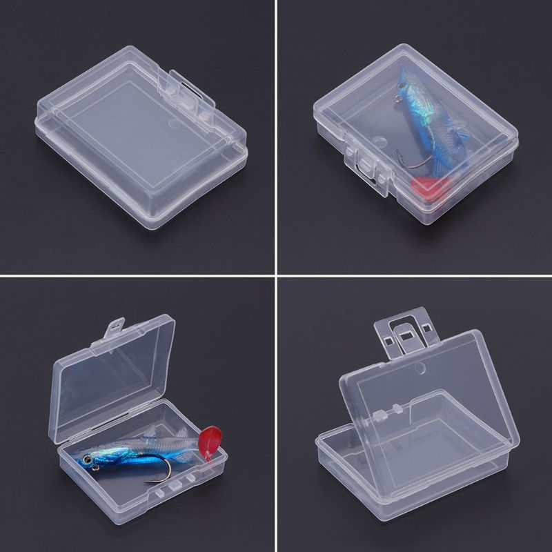 1 Pc Angeln Köder Lagerung Box Locken Container Fall Tragbare Transparente Kunststoff Tackle