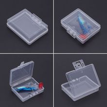1 Pc Fishing Bait Storage Box Lure Container Case Portable Transparent Plastic Tackle
