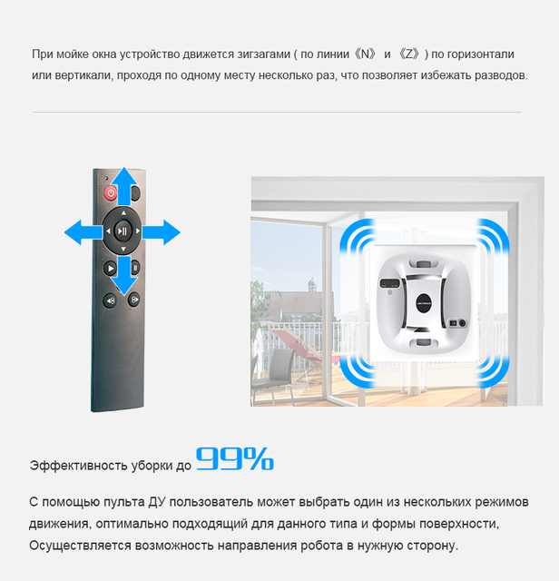 Remote Control Window Cleaner Robot Cordless