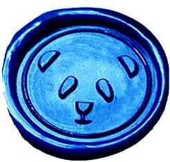 font b Custom b font Vintage Cute Panda Picture Logo Wedding Invitation font b Wax