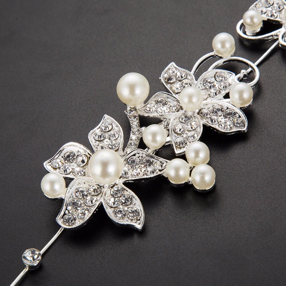 HTB1TXBvOpXXXXcHXFXXq6xXFXXXc Luxury Silver Rhinestone Pearl Jewel Flower Hair Accessory For Women