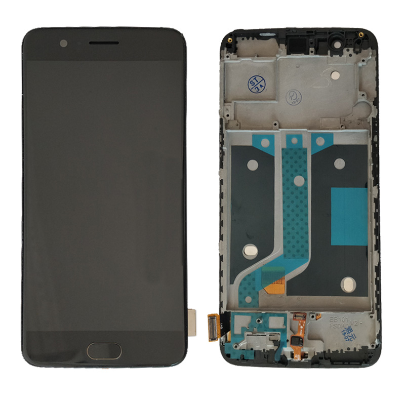 Для OnePlus 5 lcd One Plus 5 lcd дисплей и кодирующий преобразователь сенсорного экрана в сборе с рамкой A5000 lcd кнопка home отпечаток пальца