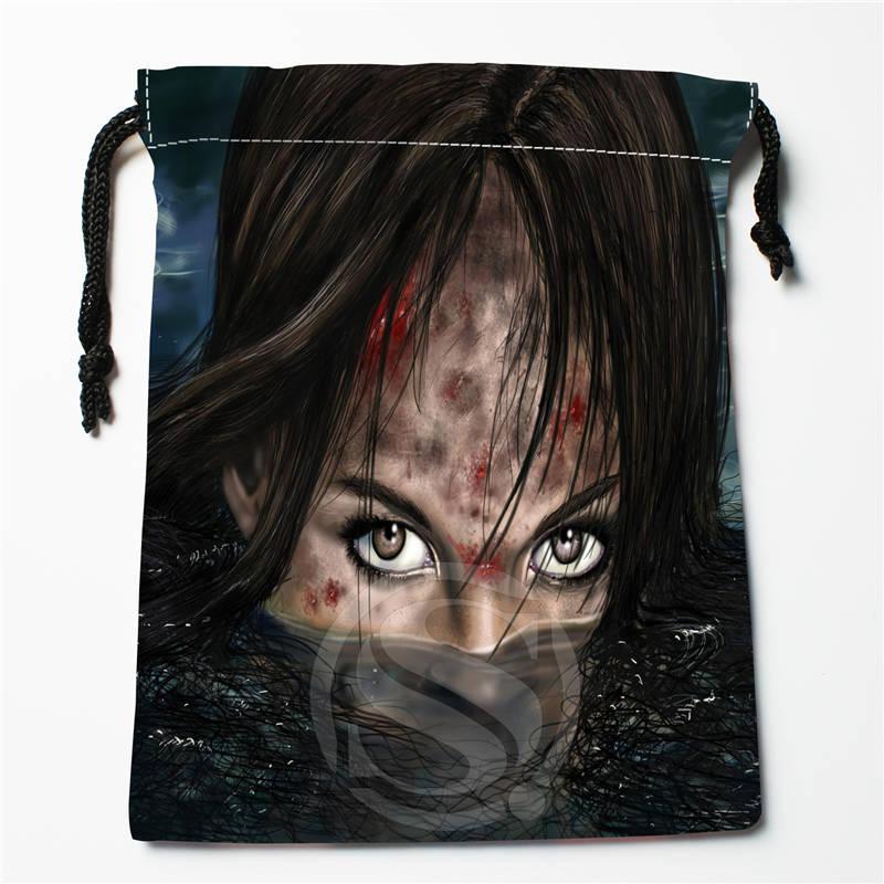 T#!u87 New Lara Croft Tomb Raider Custom Printed  Receive Bag Compression Type Drawstring Bags Size 18X22cm 7&12ft-u87