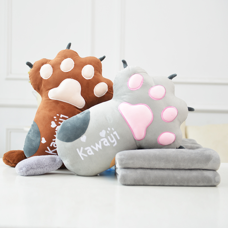 candice guo! Super cute plush toy lovely cat paw claw stuffed cushion air-conditioning blanket sofa pillow birthday gift 1pc candice guo plush toy stuffed doll cute 3d dog cartoon animal sofa pillow rest cushion sleeping baby christmas birthday gift 1pc