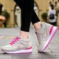 Platform Casual Tenis Feminino High Heel Cheap Women Wedge Valentine Shoe Basket Femme 2016 Female Krasovki Girl Gumshoe