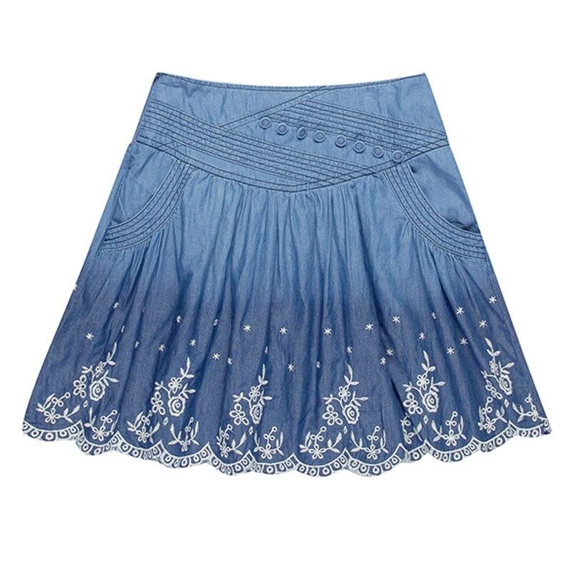 Designer Jean Skirts