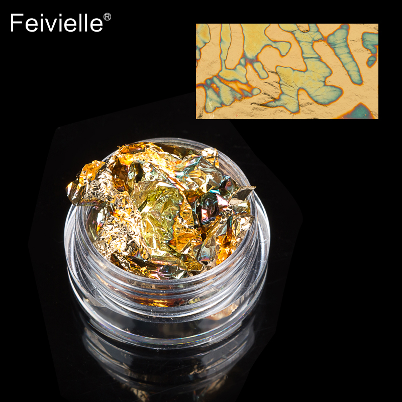 Купить с кэшбэком Feivielle Hot 12 Pcs/Set Aluminum Nail Art Foil Sticker Paper 3D Glitter UV Gel Polish Design Nail Decoration Tools