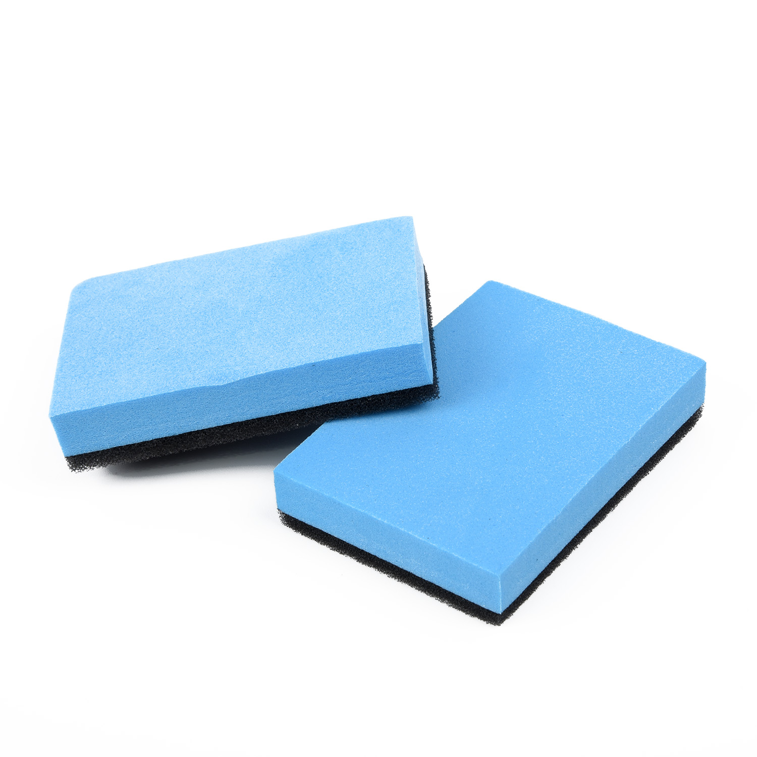 2pcs Car Shampoo Sponge Pad Cleaning Tool Glass Wax Blue Black Ceramic Coating Polishing Replacement EVA Sponge Accessories