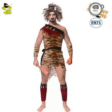 Original  Jungle Caveman Cosplay Adult Men Carnival Costumes Stone Age Stag Halloween Costume The Croods male Party Decoration