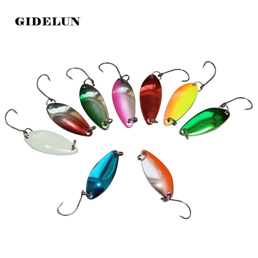 """6 NEW Assorted Spoon Metal Fishing Lure Bait Lot 2.75/"""""""