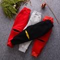 Invierno Gruesa de Algodón Pantalones de Las Muchachas de la Historieta Del Cabrito Pantalones Deportivos Chándal caliente Bebé Pantalones 4 colores pantalones de terciopelo para 1-4 año