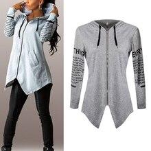 Women HoodiesLletter long-sleeved hooded Harajuku Plus Size Esporteswear Coat KL075