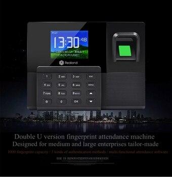 A-C030 nueva máquina de asistencia de huellas dactilares tarjeta de asistencia de identificación máquina de tarjeta perforadora en la Comunicación de la batería de respaldo en inglés