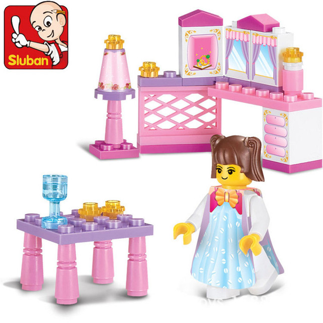 Child educational blocks Princess Room building blocks sets lepin Compatible